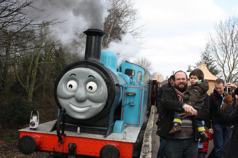 Paseo con el tren Thomas en Didcot