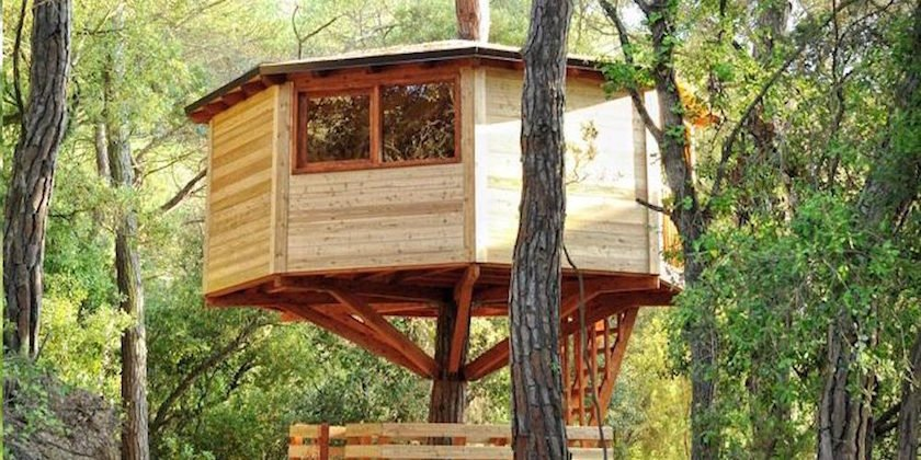 Cabanas En Los Arboles Turismo Rural Por Los Aires Pequeviajes - Cabaas-de-madera-para-nios