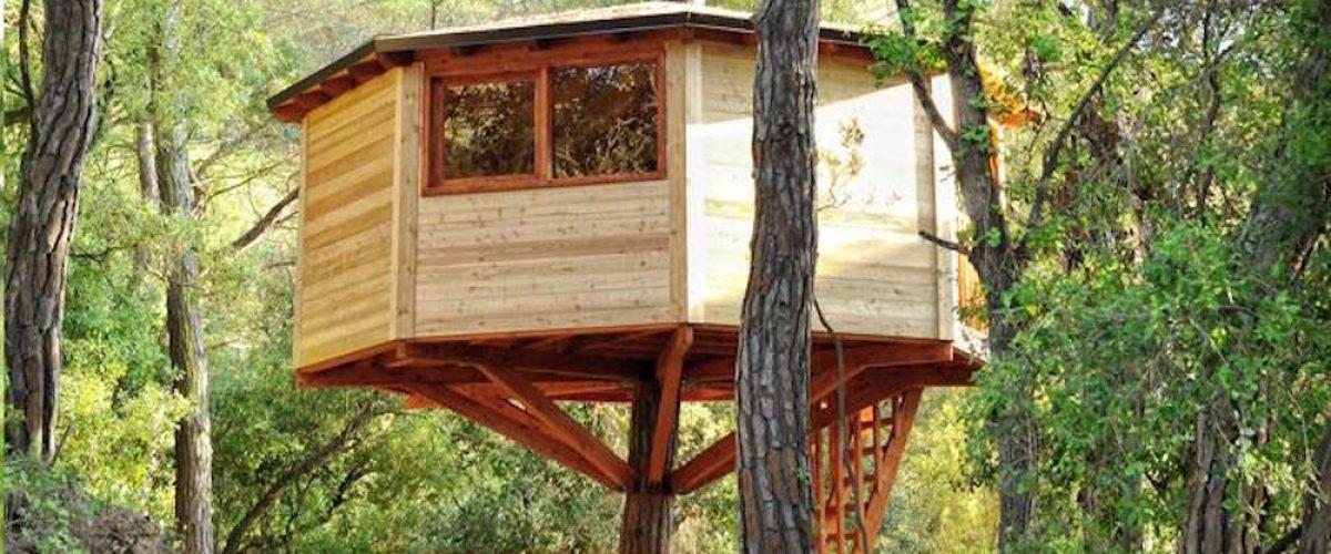Hoteles temáticos para niños, ¡cabañas en los árboles!