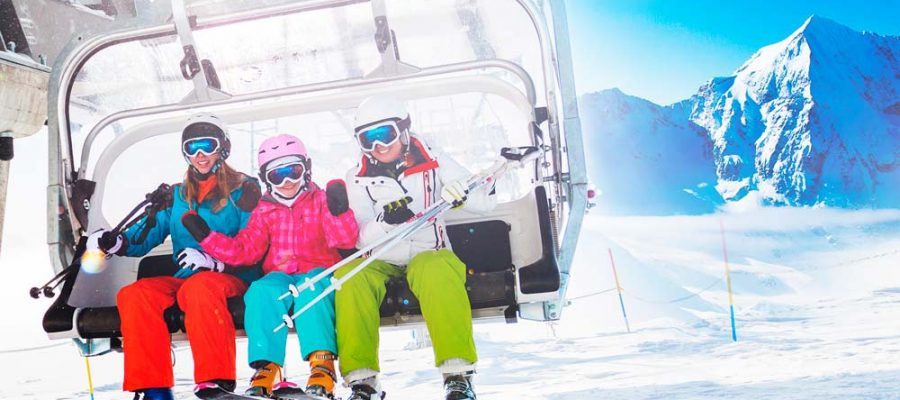 ¡Vacaciones con niños en la nieve!