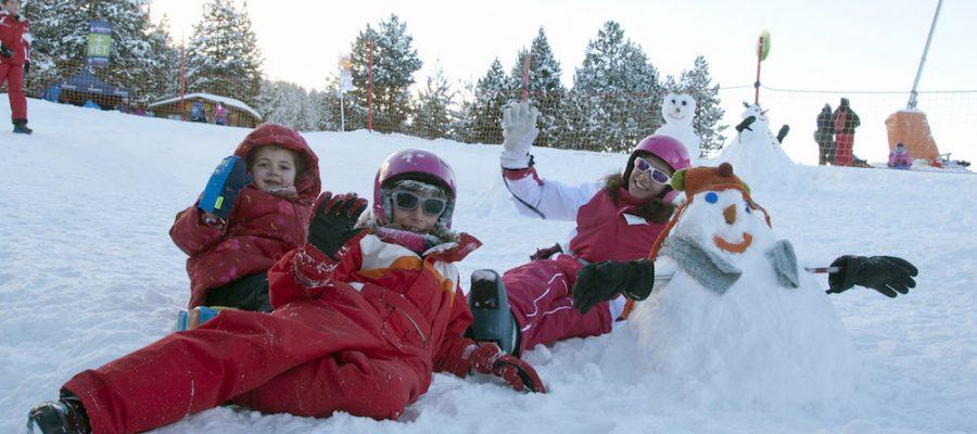 Esquiar con niños en el Pirineo Catalán